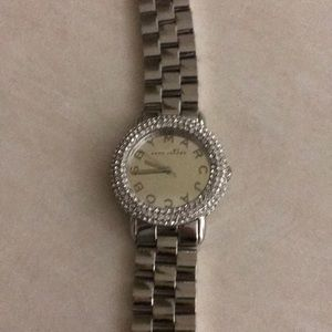 Marc Jacobs silver and crystal watch